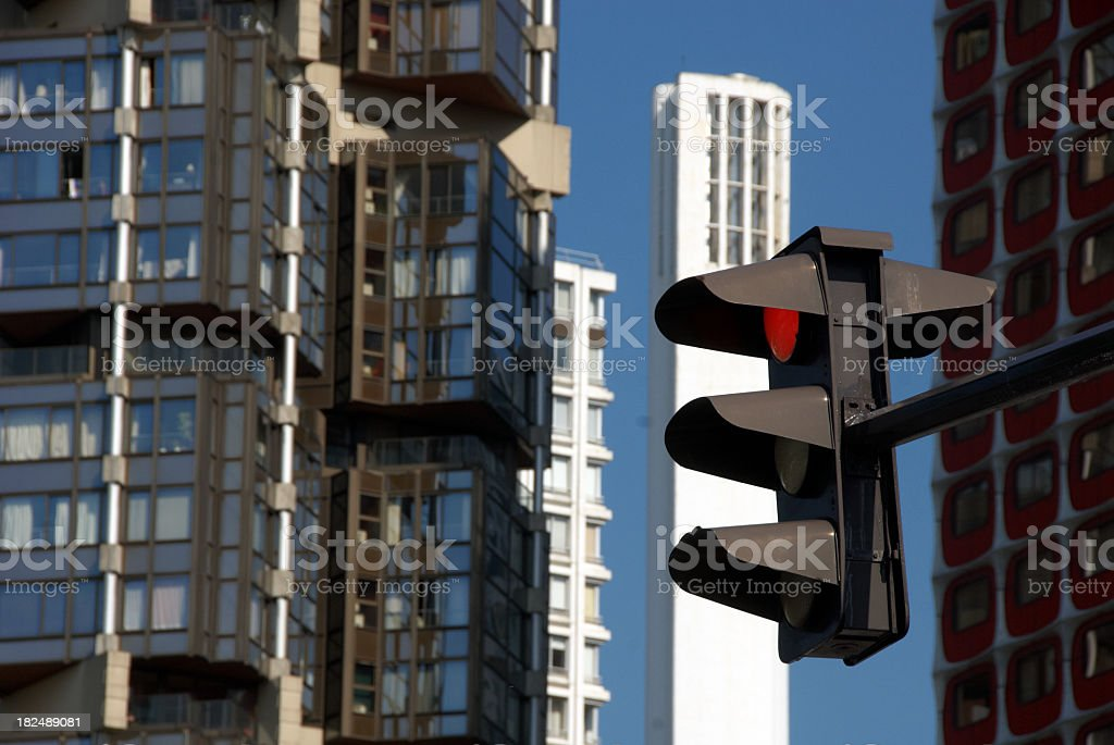 Paris Traffic light closeup stock photo