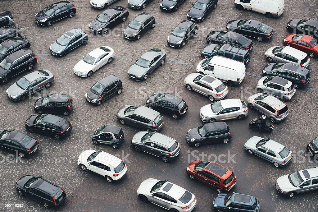 Paris Traffic stock photo