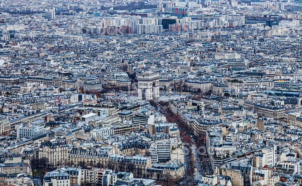 Paris - Triumphal Arch stock photo