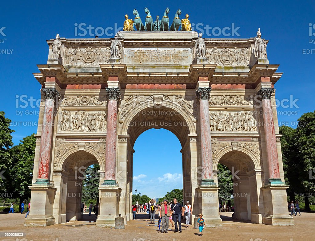 Paris - Triumphal Arch stock photo