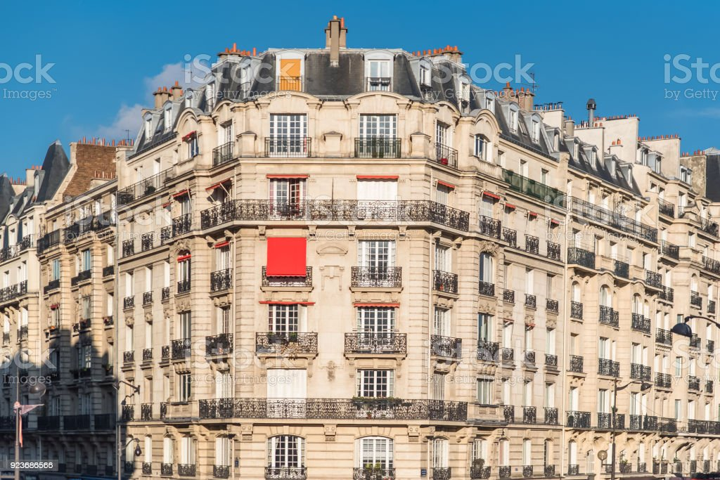Paris, typical facade stock photo