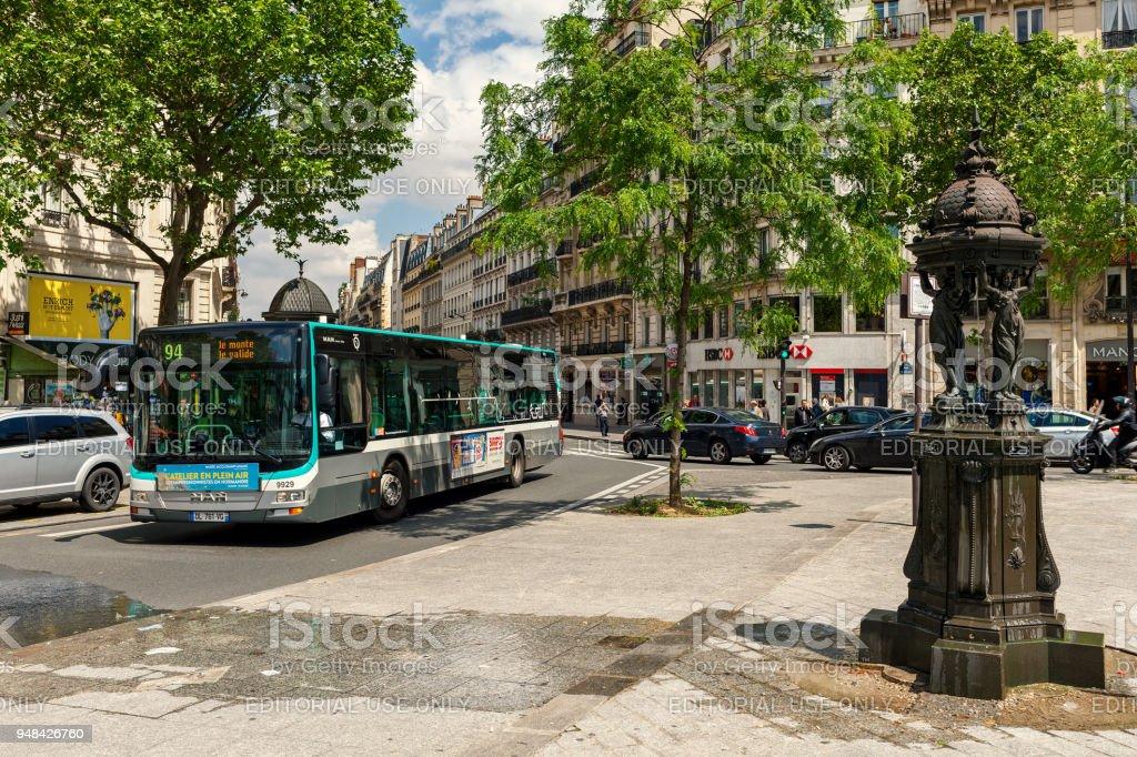 Paris urban view. stock photo