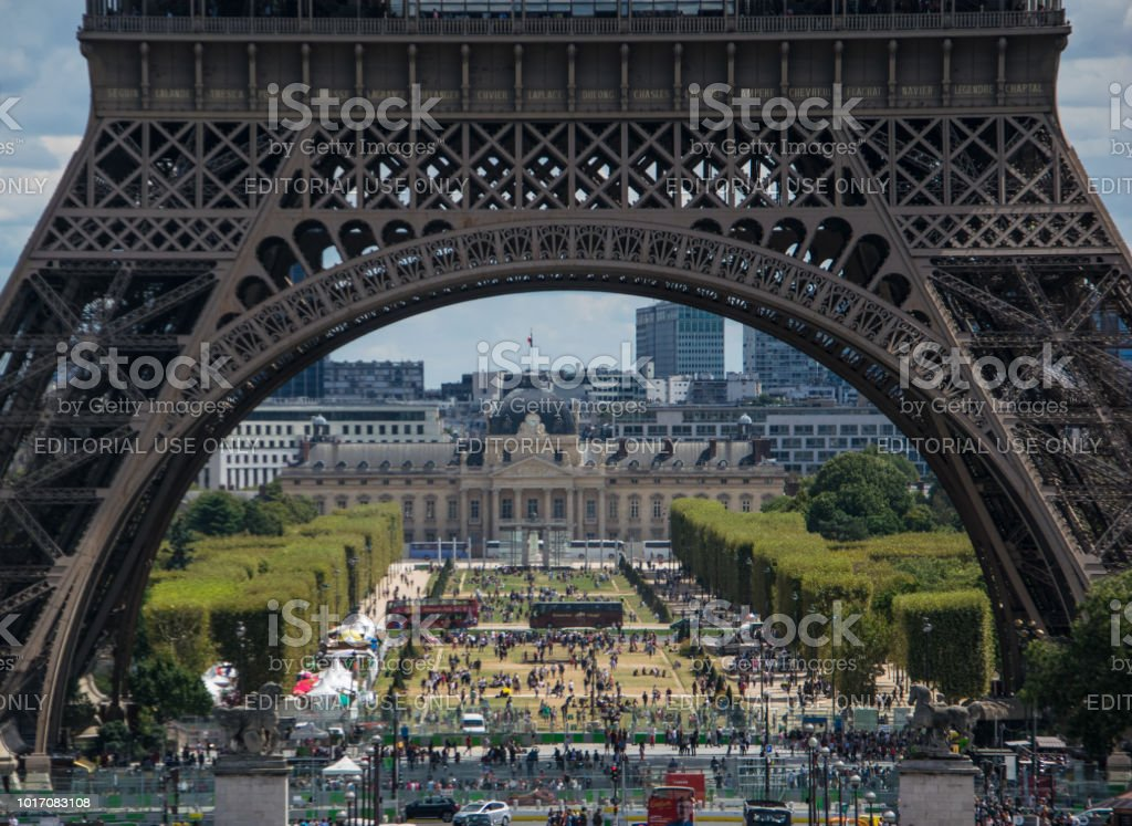 Paris View At The Eiffel Tower Stock Photo Download Image