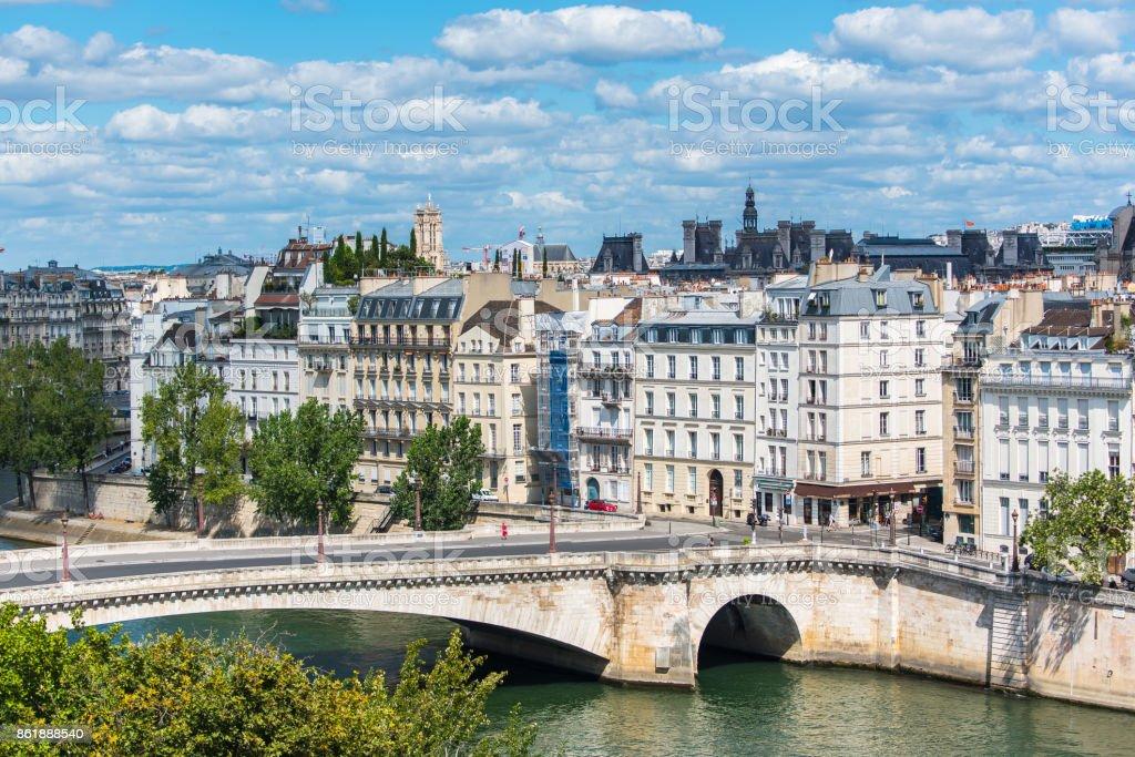 Paris, view of ile Saint-Louis stock photo