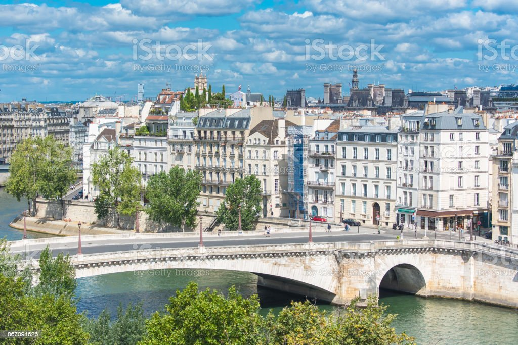 Paris, view of ile saint-louis stock photo