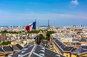 istock Paris with French flag 1210759286