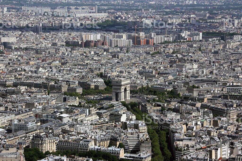 Paris_arc de triomphe stock photo