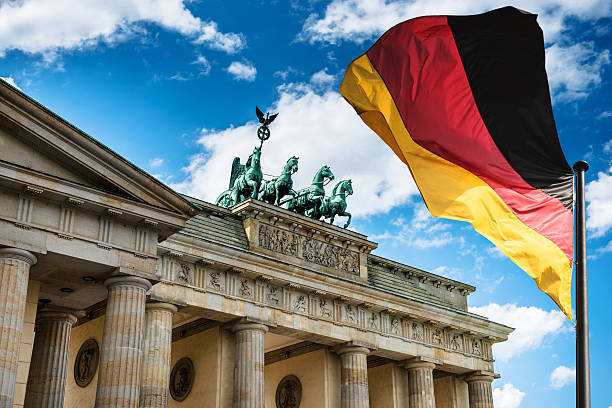 pariser platz i brandeburg tor-berlin - niemcy zdjęcia i obrazy z banku zdjęć