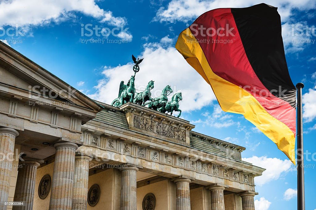Pariser Platz and Brandeburg Tor - Berlin stock photo