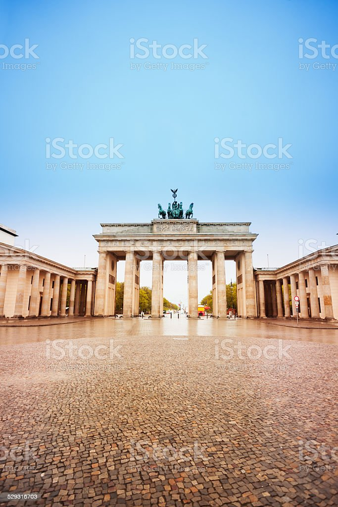 Pariser Platz and Brandenburger Tor in Berlin stock photo