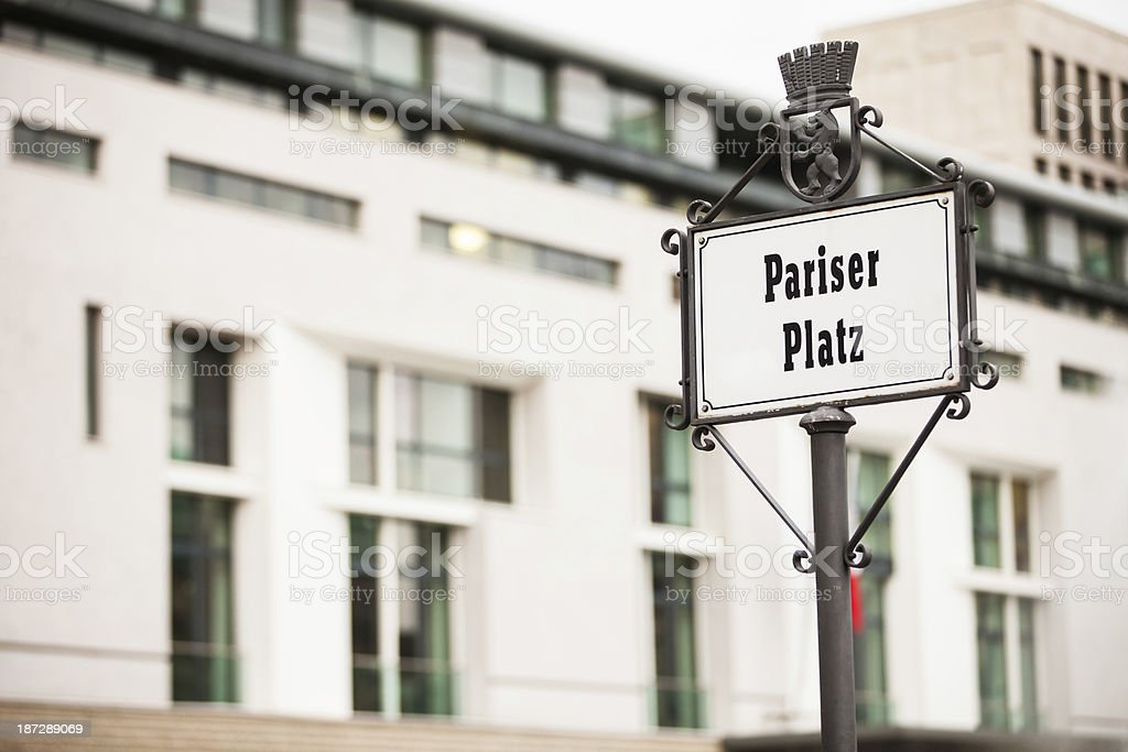Pariser Platz, Berlin royalty-free stock photo