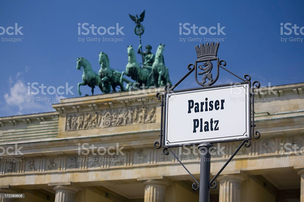 Pariser Platz royalty-free stock photo