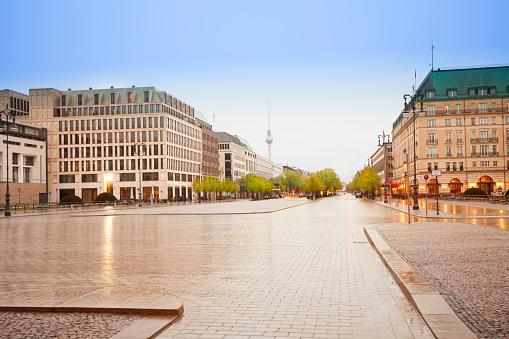 Pariser Platz, Unter den Linden street in Berlin