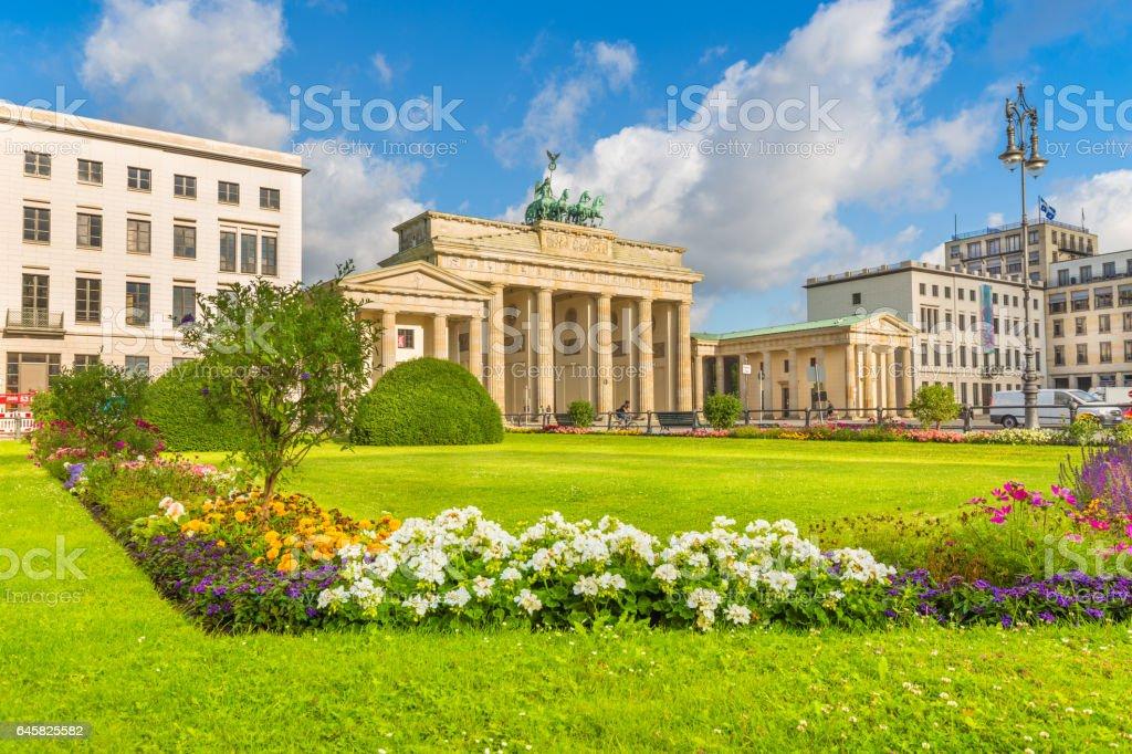 Pariser Platz with Brandenburg Gate, Berlin, Germany stock photo