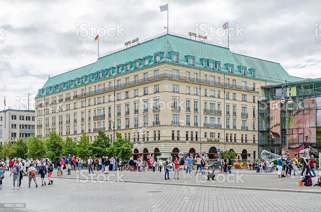 Pariser Platz with Hotel Adlon Kempinski stock photo