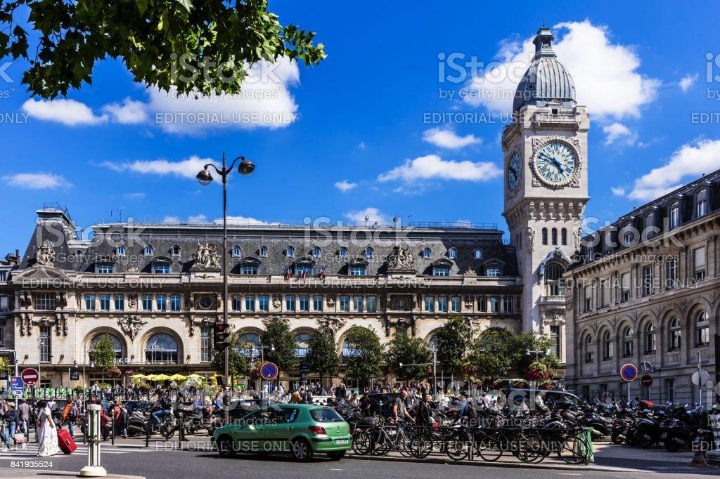 Paris-Gare de Lyon mainline railway station. Paris, France stock photo
