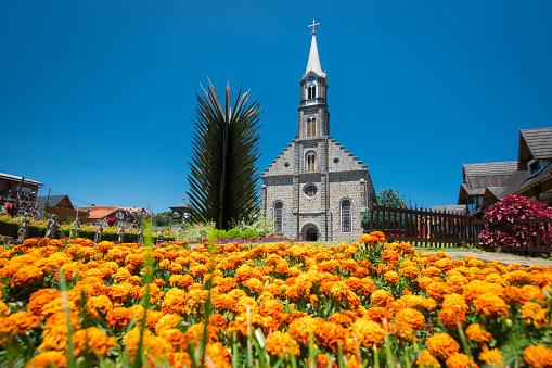 Parish São Pedro, Gramado Cathedral, Rio Grande do Sul, Brazil.