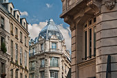 Typical apartment buildings in Paris France.