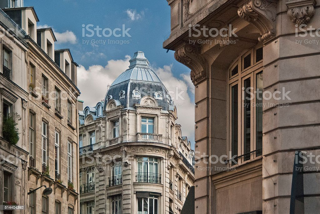 Parisian architecture stock photo