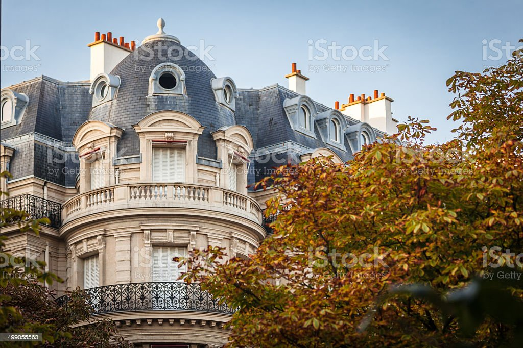 Parisian building stock photo