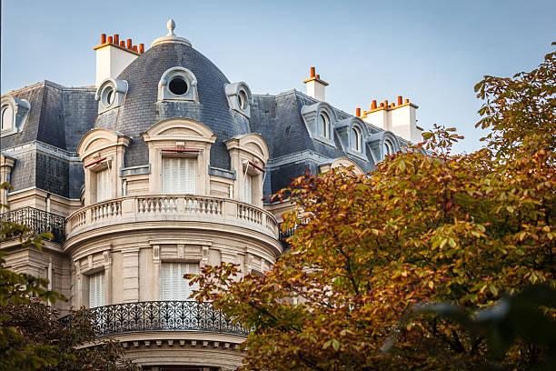 Parisian building stock photo