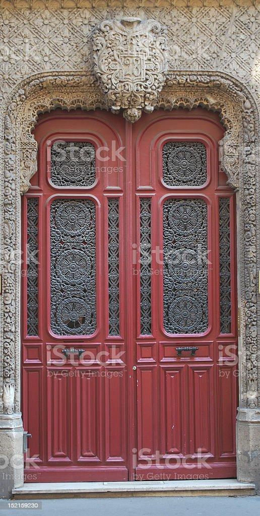 Parisian door royalty-free stock photo