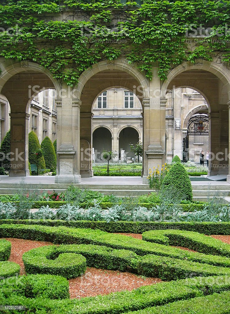 Parisian garden stock photo