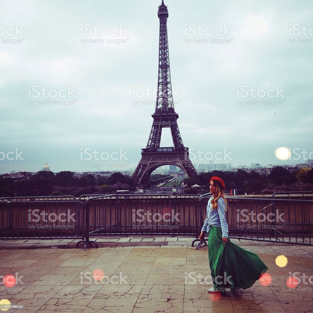Parisian girl stock photo