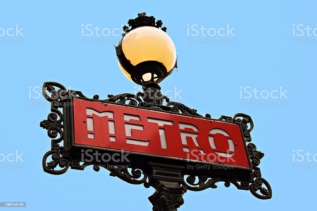 Parisian metro sign royalty-free stock photo