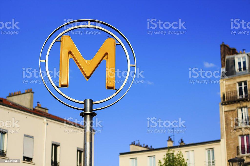 Paris metro sign – Foto