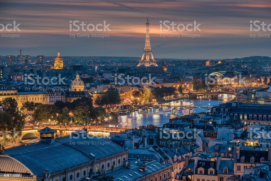 Parisian Night royalty-free stock photo