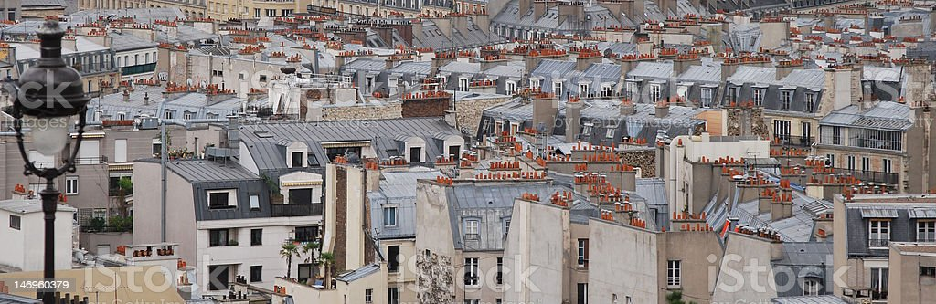 Parisian roofs royalty-free stock photo