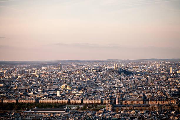 Parisian rooftops stock photo