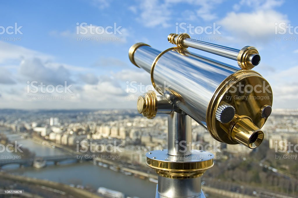 Parisian Sightseeing Telescope stock photo