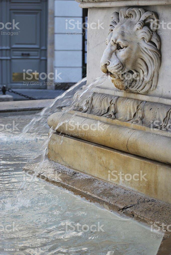Parisian Street Fountain royalty-free stock photo