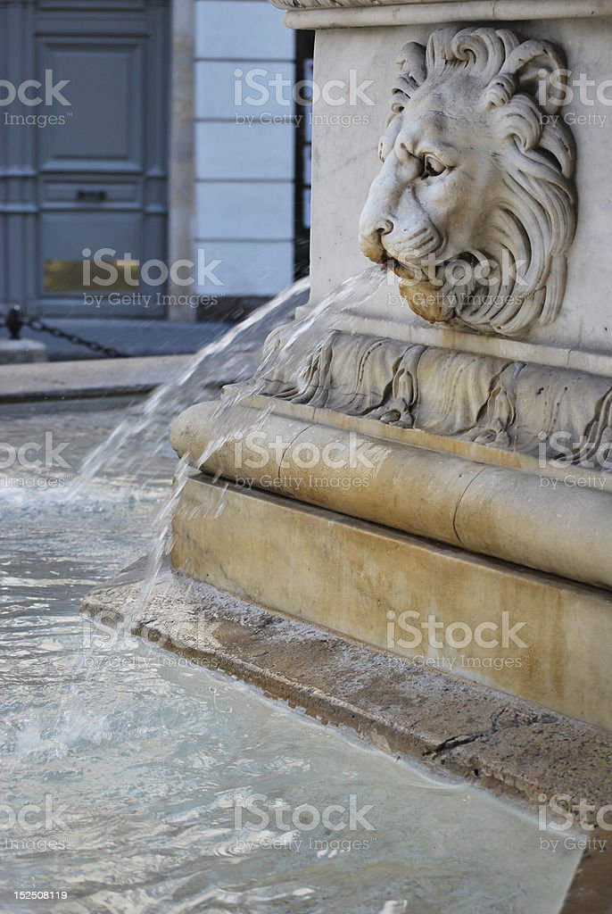 Parisian Street Fountain stock photo