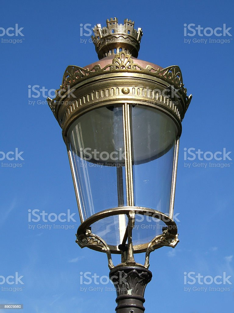 Parisian street lamp royalty-free stock photo