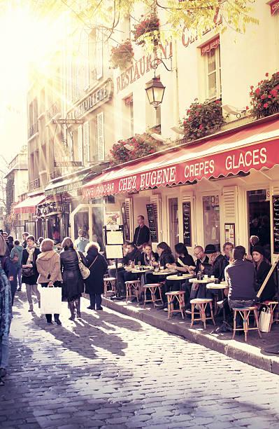 Parisian street scene stock photo