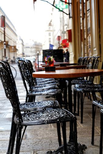 Parisian Terrace Stock Photo - Download Image Now