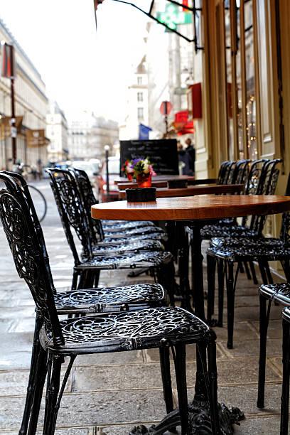 Parisian terrace stock photo