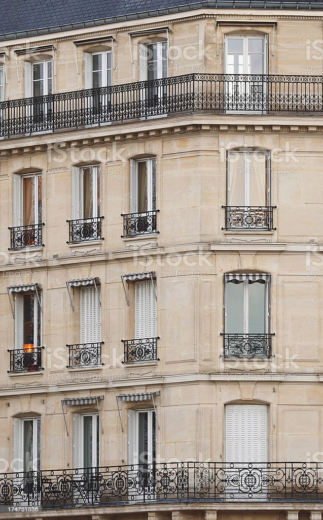Parisian Windows royalty-free stock photo