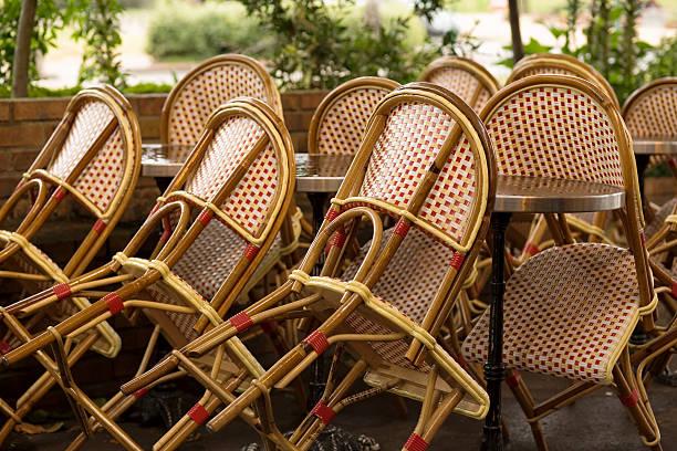 Parisian's cafe stock photo