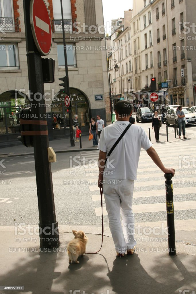 Parisians royalty-free stock photo