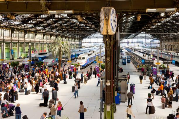 Paris-Nord (Gare Du Nord) Train Station, Paris, France stock photo