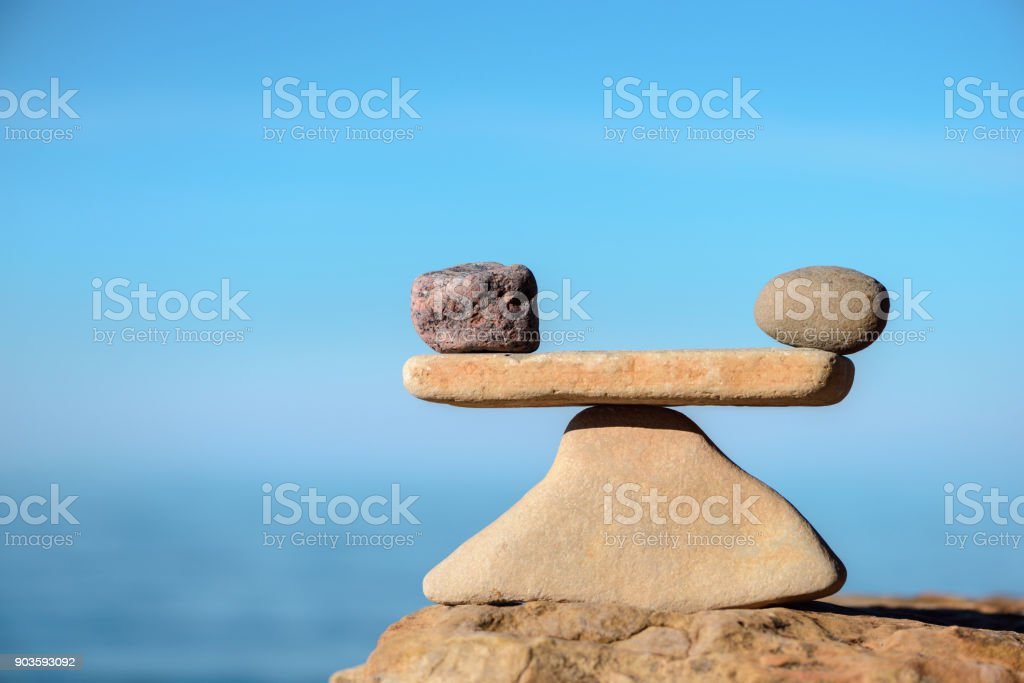 Parity of stones stock photo