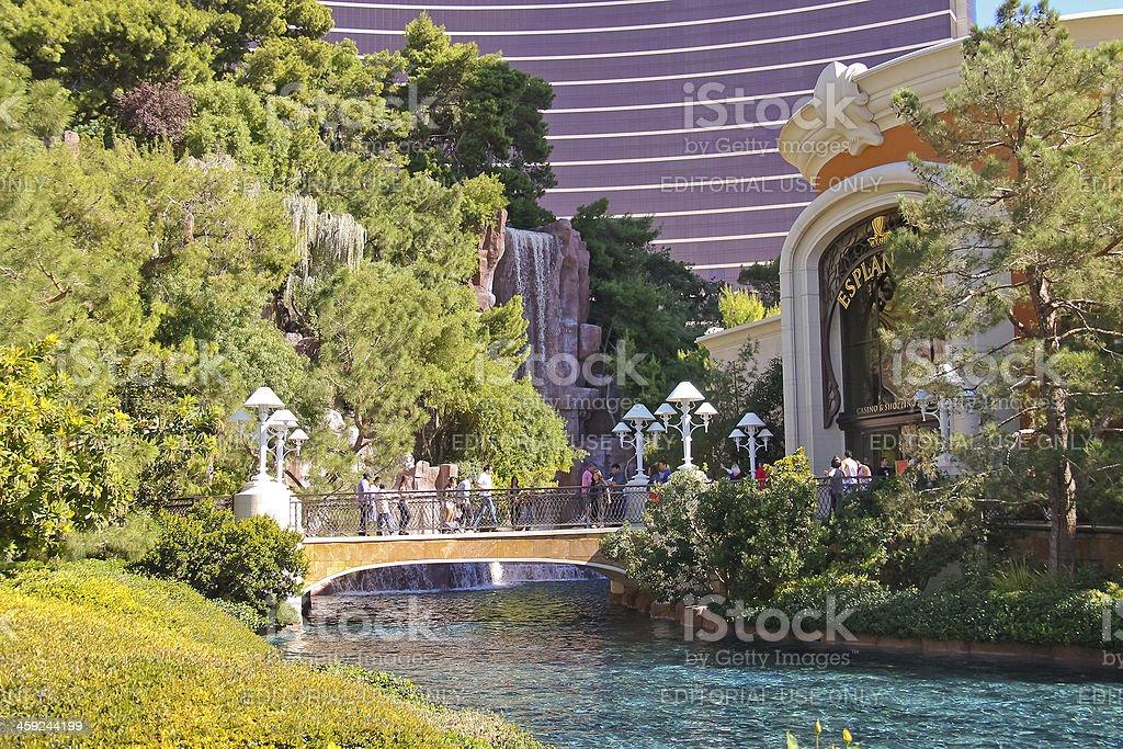 Park and Falls Hotel Wynn  in Las Vegas, Nevada. royalty-free stock photo