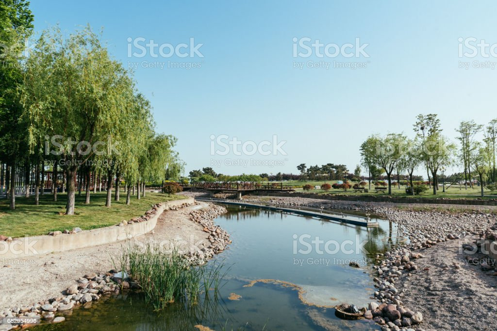 park and river royalty-free stock photo