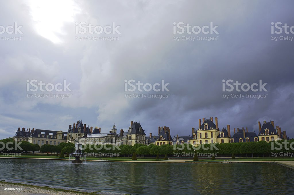 Park and royal residence stock photo