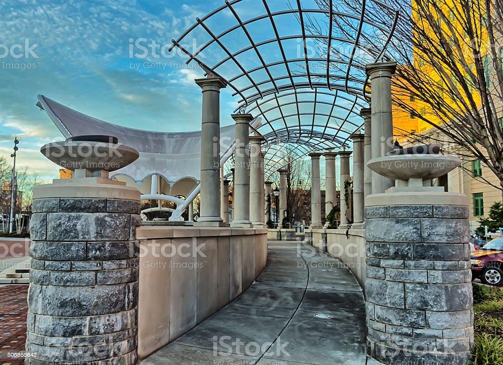 Park arbor in Asheville, North Carolina, USA stock photo