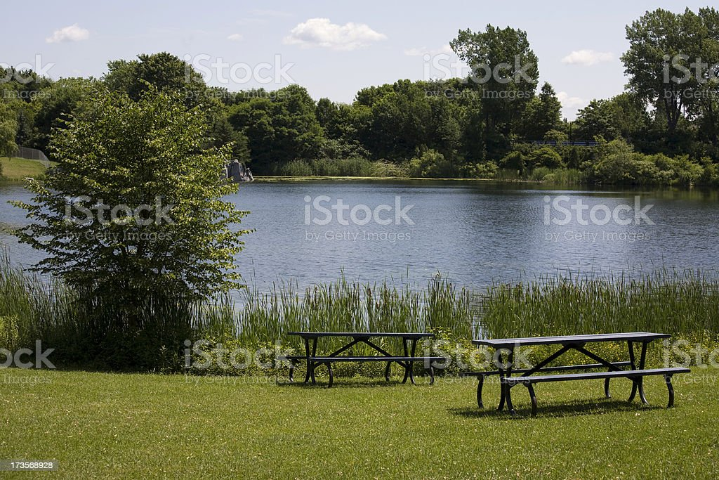 Park area in Montreal, Canada royalty-free stock photo